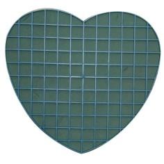 Corazón plástico con esponja - MAGNÉTICO (30 CM)