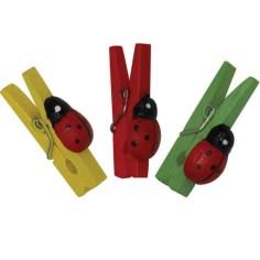 MINI PINCES AVEC COCCINELLES, (REF. XH2-100H), 2,5 cm