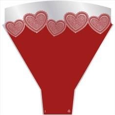 Bolsa de bouquet - LOVE HEARTS (50 unds.)