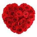 Boîtes de Roses Éternelles Coeur
