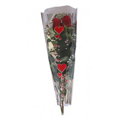 Bouquet Corazon Metal Plata