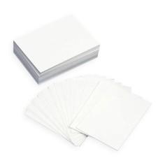 Tarjeta simple RECTANGULAR - Blancas
