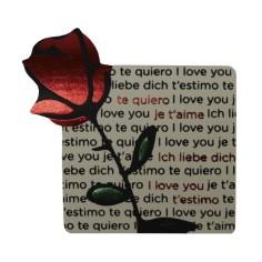 Etiqueta Rosa Texto